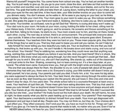 Honestly, this is really long, but could you just imagine this. And how many times this actually happens. Really think before you make such a crazy decision.