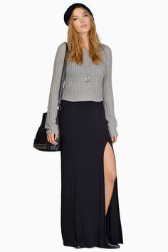 Split In Two Maxi Skirt