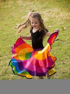 Rainbow Twirly Skirt. Peppermint Swirl Skirt by BinmyBonnetCouture