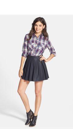 Skirt and plaid