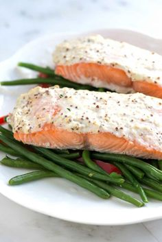 How to Make Our Easy Baked Salmon Recipe Topped with Sour Cream