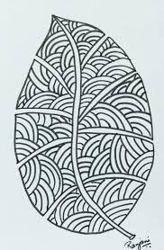 Original Nature Drawing by Ranjani Raghavan Doodle Art Letters, Doodle Art Journals, Leaf Drawing, Girl Sketch, Zentangle Patterns, Pattern Art, Art Tutorials, Art Forms, Art Images