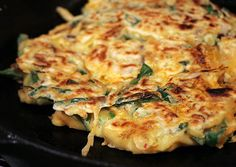 Pa Jeon (Korean pancakes w/ veggies, meat or seafood)