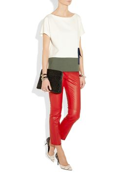 Miu Miu | Cropped stretch-leather pants | NET-A-PORTER.COM