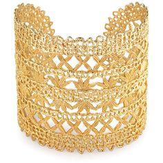 Stella & Dot Alila Lace Cuff ($98) ❤ liked on Polyvore featuring jewelry, bracelets, polka dot jewelry, polish jewelry, antique jewellery, stella dot jewellery and stella dot jewelry