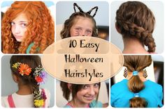 Do you want 11 easy Halloween costume ideas centered around a hairstyle? Here you will find cute costume ideas from Disney, The Hunger Games, etc...