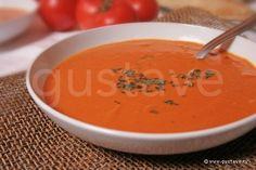 Velouté de tomate au basilic Diet Recipes, Vegetarian Recipes, Cooking Chef, Summer Recipes, Food Videos, Curry, Food And Drink, Yummy Food, Nutrition