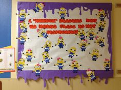 "Despicable Me Back to School Bulletin Board! ☺  A""minion"" Reasons Why Ms Mata's Class is Not Despicable!   ...each minion has one of my students name on it..."