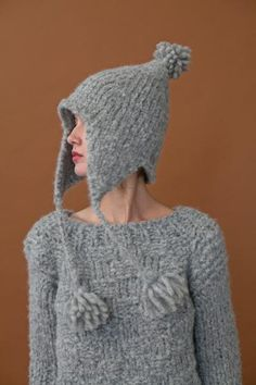 Rare Creature Adelle Hat will keep your head warm and cozy. Knitting Kits, Hand Knitting, Knit Crochet, Crochet Hats, Holiday Pops, Renegade Craft Fair, Chunky Yarn, Baby Design, Warm And Cozy