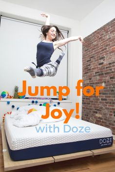 The Doze Mattress is perfect for: napping, cuddling, jumping and more!  Shot by Christian Hopkins