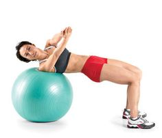 Swiss Ball Exercises on Pinterest | Total Gym, Ball Workouts and ...