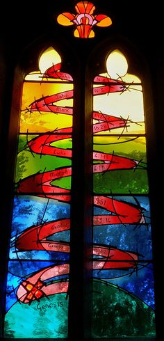 Unusual windows ~ Church of the Immaculate Conception, Spinkhill by ceeemmdee, via Flickr