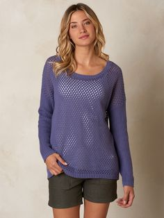 53259469a3a60 The open knit and dropped shirttail hem of the prAna Parker Sweater make it  an ideal layering piece. organic cotton is a sustainably great way to top  off an ...