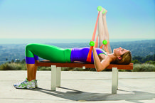 Use a resistance band AND dumbbells to maximize your arm workouts!
