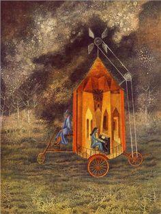 """""""Caravan"""" by Remedios Varo (1908-1963) via Wikipaintings."""