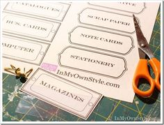 Free Printable Garden Tags | ... File Box with Gift Wrap + Free Printable File Labels | In My Own Style