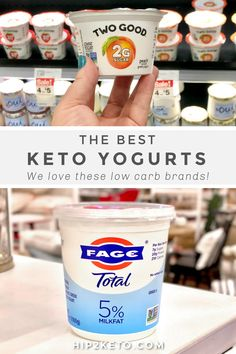 Wondering if yogurt is keto? We break down the macros and give you the lowdown on which store-bought yogurt brands are the best to buy! #keto #lowcarb #ketoyogurt #yogurt #ketodairy Low Sugar Yogurt, Best Greek Yogurt, Greek Yogurt Brands, Plain Greek Yogurt, Yogurt Recipes, Keto Recipes, Milk Store, Good Keto Snacks, Quick Keto Breakfast