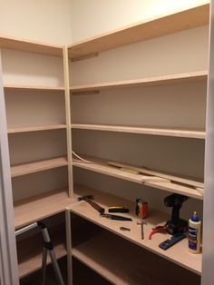How to Build a Custom Pantry Philip Miller Furniture How to Build a Custom Pantry Philip Miller Furniture - Kitchen Pantry Cabinets Designs Pantry Room, Pantry Cupboard, Corner Pantry, Pantry Shelving, Pantry Closet, Pantry Storage, Kitchen Pantry Design, Kitchen Pantry Cabinets, Diy Kitchen Storage