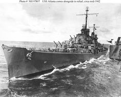 USS Atlanta (CL-51) scuttled off Lunga Point, Guadalcanal, Solomon Islands, after being damaged by gunfire from Japanese warships during the Battle of Guadalcanal,