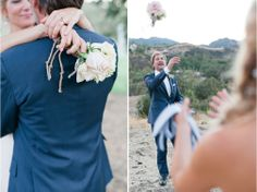 Don't want to let go of your bridal bouquet?  Consider a bouquet just for tossing | LILLA BELLO