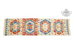 Colorful Turkish Kilim Rug Runner Oriental by AnatoliaCollection