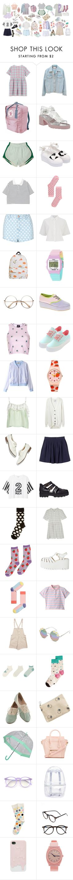 eight day vacation by peachnim on Polyvore featuring Monki, T By Alexander Wang, Each X Other, ODYLYNE, Illustrated People, Topshop, Forever 21, Happy Socks, Uniqlo and ASOS