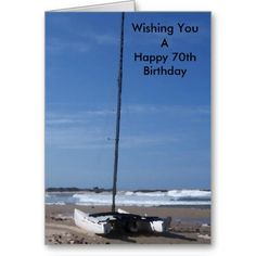 #Catamaran #70th #Birthday #Card