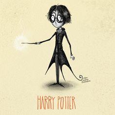 Tim Burton style Harry Potter characters: Harry Potter