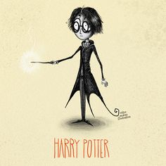 Tim Burton style Harry Potter characters: Harry Potter