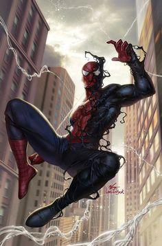 Spiderman by InHyuk Lee Marvel Fanart, Marvel Comics, Bd Comics, Marvel Comic Books, Marvel Vs, Marvel Characters, Amazing Spiderman, Black Spiderman, Spiderman Art