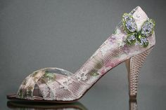 Wedding Shoes Antique Pink Wedding Shoes by DesignYourPedestal