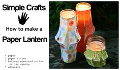 How to make a paper lantern -
