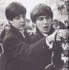 The Beatles, Paul McCartney, George Harrison George Harrison, Beatles Band, John Lennon Beatles, Ringo Starr, Paul Mccartney, Great Bands, Cool Bands, Harry Benson, The Quarrymen