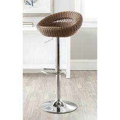 Shop for Safavieh Zeba Brown Adjustable Swivel 23-33-inch Bar Stool. Get free shipping at Overstock.com - Your Online Furniture Outlet Store! Get 5% in rewards with Club O! - 15254355