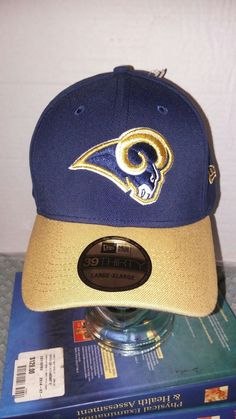 5186bd97181 Los angeles Rams new era 39thirty large-xlarge blue and brown fitted hat  18.99 New