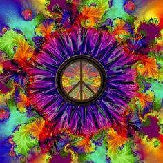A Mente e Doença: Hipnose e Saúde Hippie Love, Hippie Art, Kaleidoscope Art, Osho Meditation, Peace Sign Art, Peace Signs, States Of Consciousness, Give Peace A Chance, Psychedelic Rock