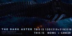 Em dado momento do filme, a Dark Aster, gigantesca nave de Ronan, possui as seguintes coordenadas: T8IS IS1301319+31N3518 Fazendo uma simples troca de números por letras, temos: T 8 I S I S 13 O 13 19 3 1 N 3 518 T H I S I S M O M S C A N C E R Dada a aparição da mãe de Peter Quill quando ele segura a Joia do Infinito ao final do filme, a jornada do personagem com seus companheiros de equipe seria a maneira dele ter superado esse trauma de infância. E isso seria uma grande metáfora.