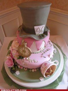 feminine Mad Hatter Cake