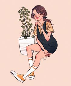 """Roeve on Instagram: """"Harry Potter? Say no more. #teamhufflepuff And what house are you in? 💛 . Did I tell you that I'm a plant mom? Well, I have 5 kids and…"""" What House, Hufflepuff Pride, Cute Stories, 5 Kids, Art Challenge, Time Art, Disney Characters, Fictional Characters, Harry Potter"""