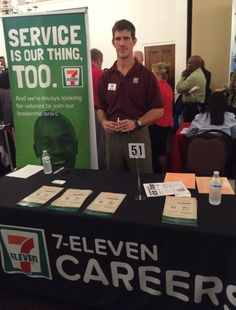 Our Field Recruiter, Sam, at a military career fair in Ft. Meade, MD.
