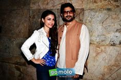Soha Ali Khan & Arshad Warsi at the Special screening of Hindi movie 'Mr Joe B. Carvalho' in Mumbai