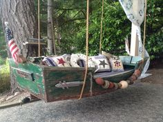 old boat and made a daybed for my cabana room.