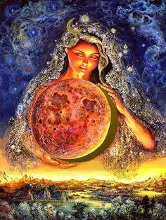 Josephine Wall Fantasy Art | Moon Goddess by Josephine Wall | Art: Fantasy