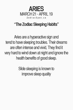 I definitely have trouble sleeping!