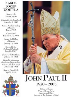 We will all celebrate when Pope John Paul II becomes a Saint