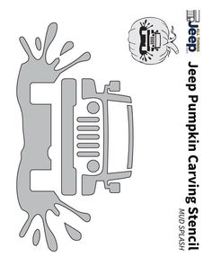 Cool Jeep 2017: Jeep Pumpkin Carving Templates Jeep