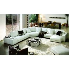 2617 Modern White Leather Sectional Sofa - Modern Sofas - Living Room
