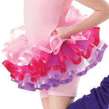 Girls' Three Tier Ribbon Tulle Tutu; Balera great for ballet class and home play.