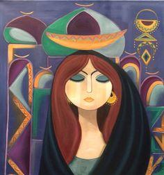 بغداديه وقصة عشق لا تنتهي    / زيت على كانفاس Middle Eastern Art, Arabian Art, Arabesque, Painter Artist, Plastic Art, Egyptian Art, Female Art, Folk Art, Graphic Art