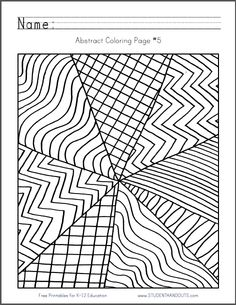 Abstract Design Coloring Page 5